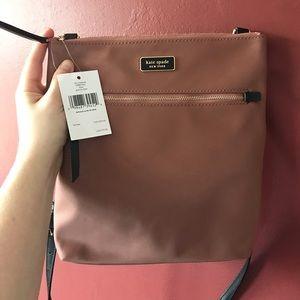 NWT Kate Spade Rose Gold Flat Crossbody Bag